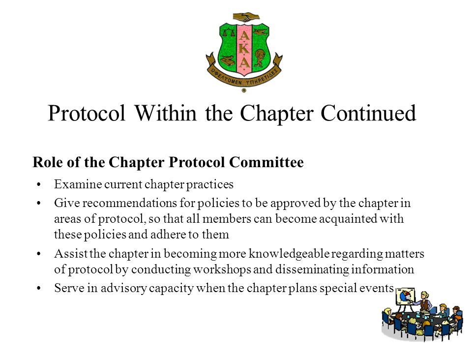 Protocol Within the Chapter Continued
