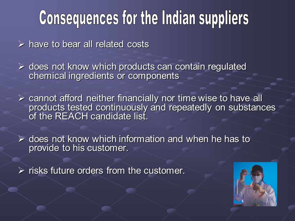 Consequences for the Indian suppliers