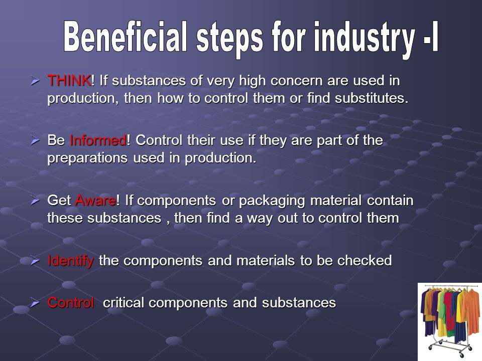 Beneficial steps for industry -I