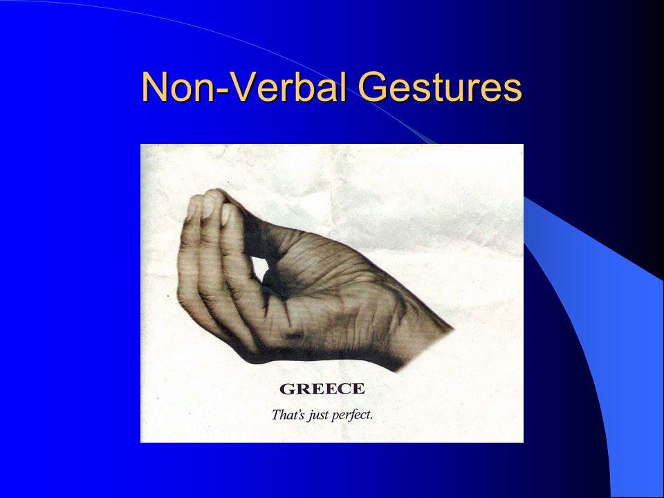 Non-Verbal Gestures