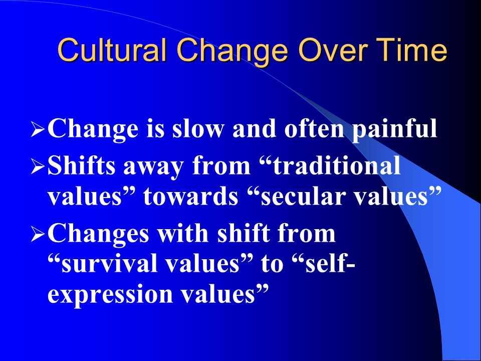 Cultural Change Over Time