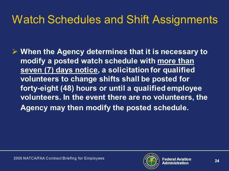 Watch Schedules and Shift Assignments