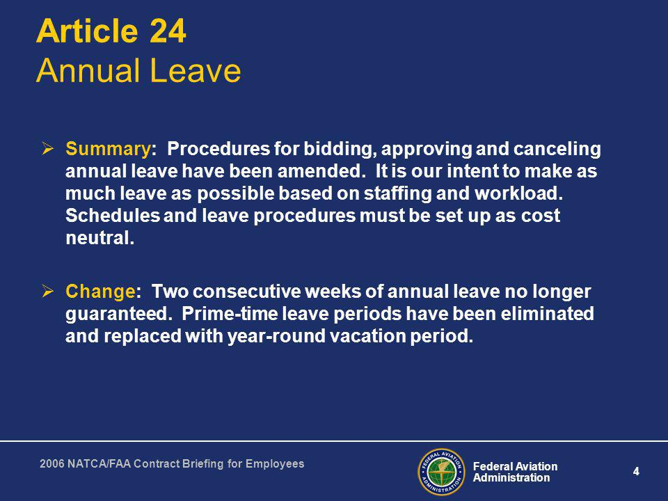Article 24 Annual Leave