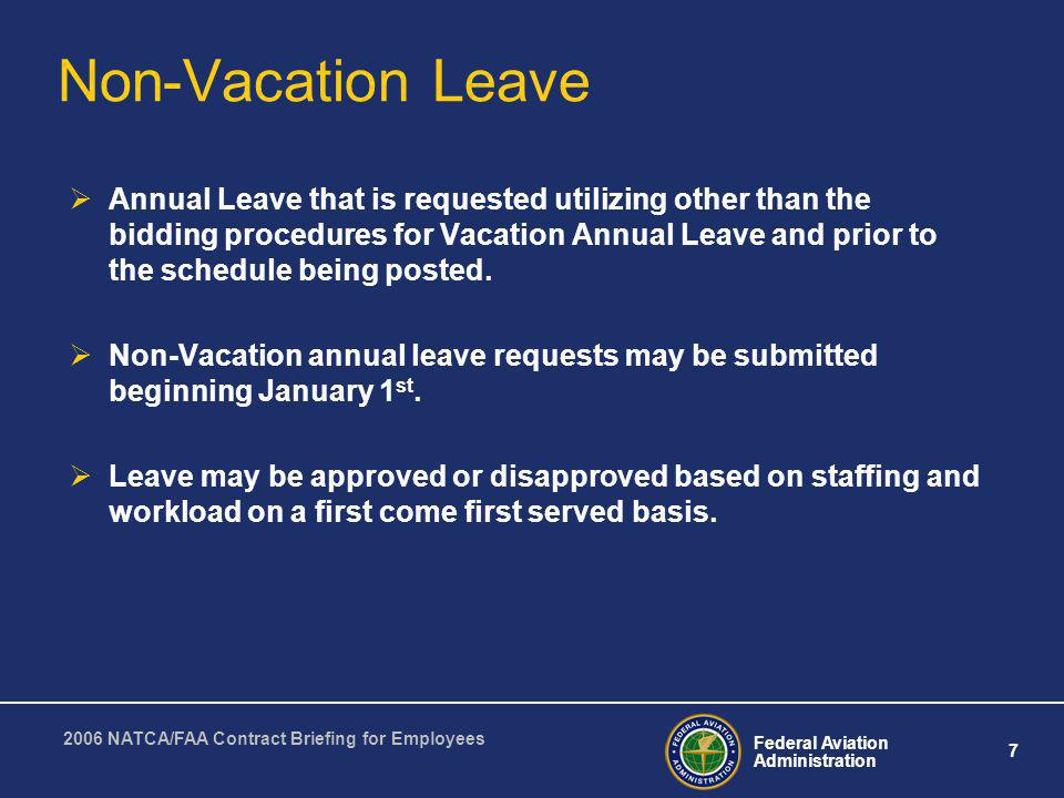 Non-Vacation Leave