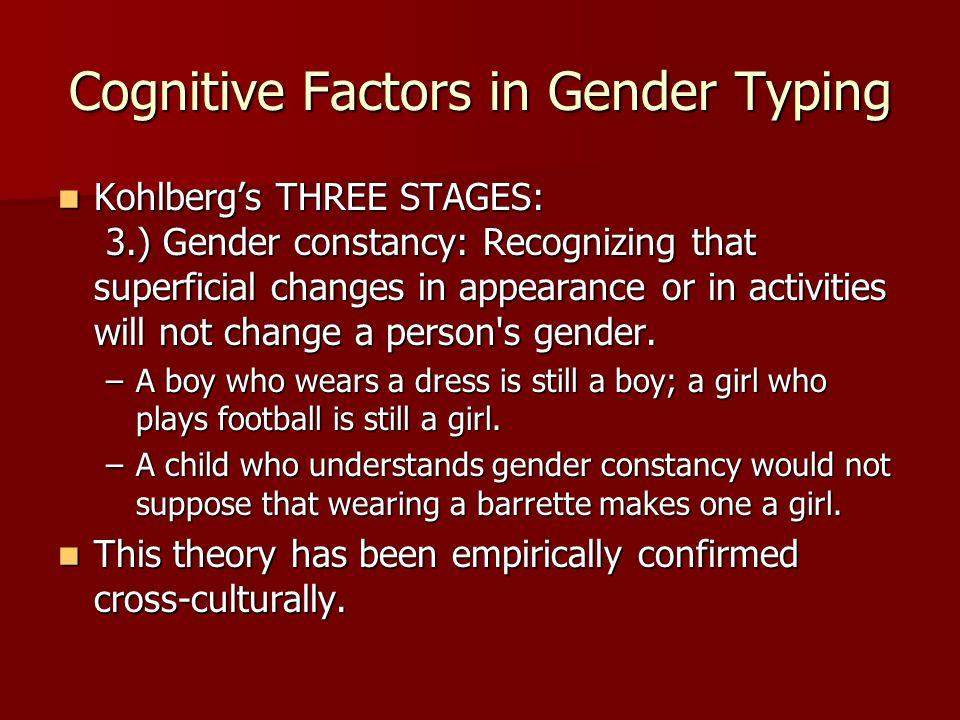 Cognitive Factors in Gender Typing