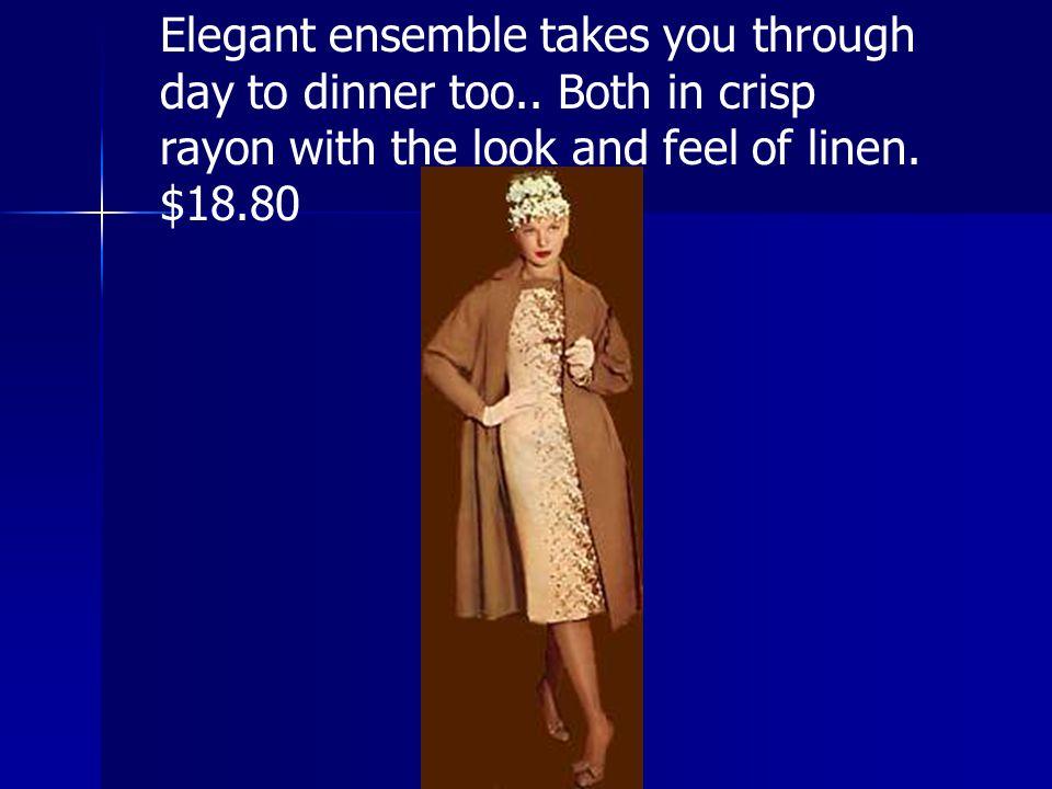 Elegant ensemble takes you through day to dinner too