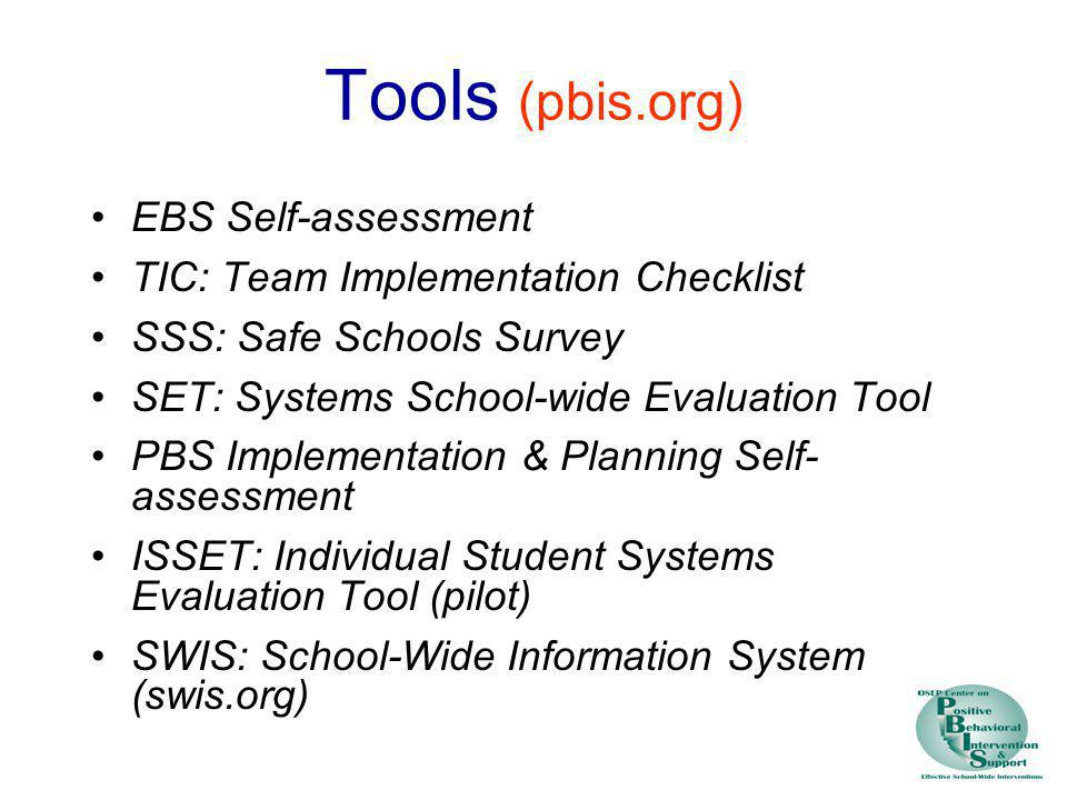 Tools (pbis.org) EBS Self-assessment
