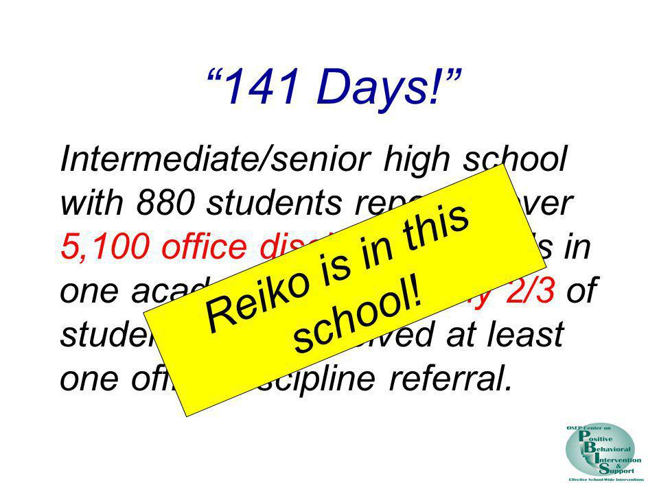 141 Days! Reiko is in this school!