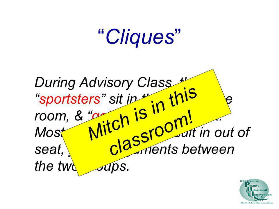 Mitch is in this classroom!