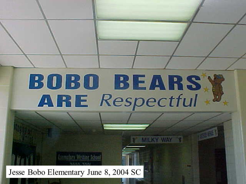 Jesse Bobo Elementary June 8, 2004 SC