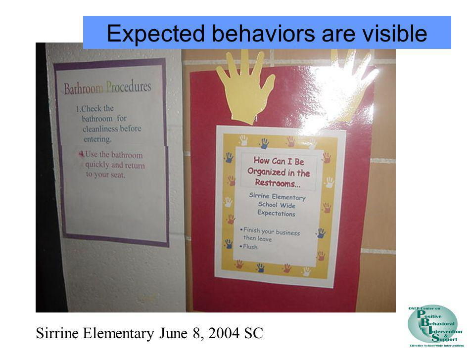 Expected behaviors are visible