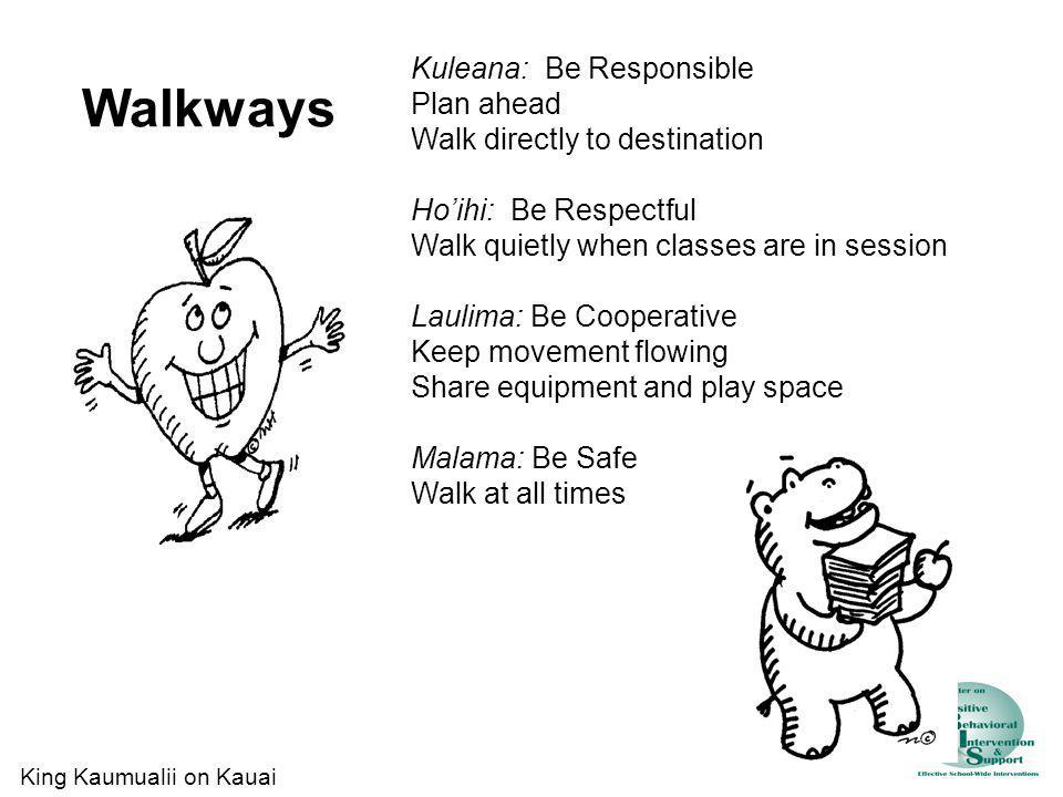 Walkways Kuleana: Be Responsible Plan ahead