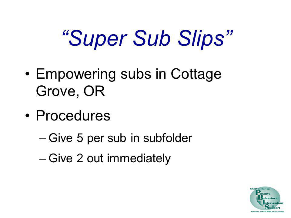 Super Sub Slips Empowering subs in Cottage Grove, OR Procedures