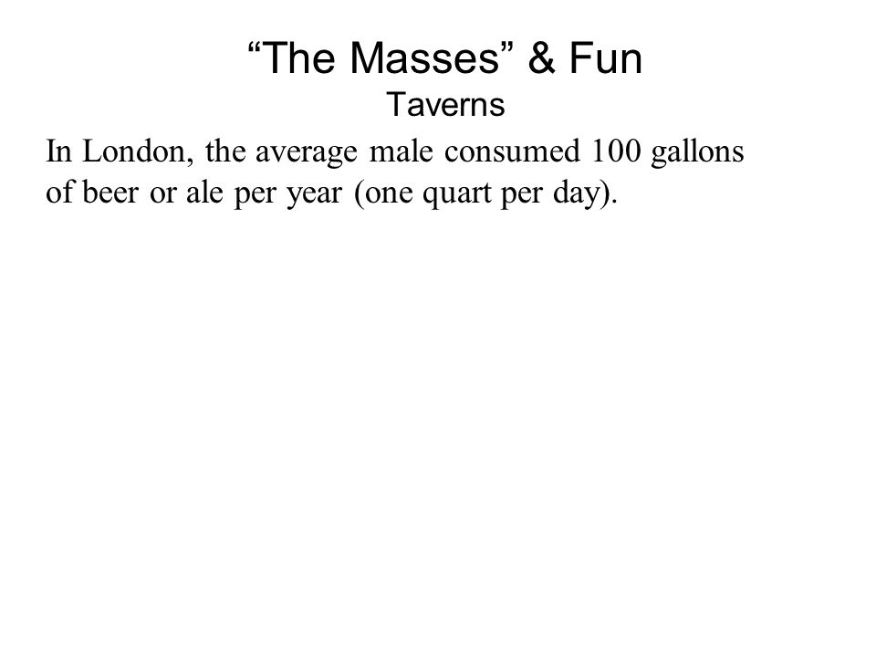 The Masses & Fun Taverns