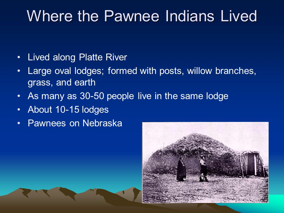Where the Pawnee Indians Lived