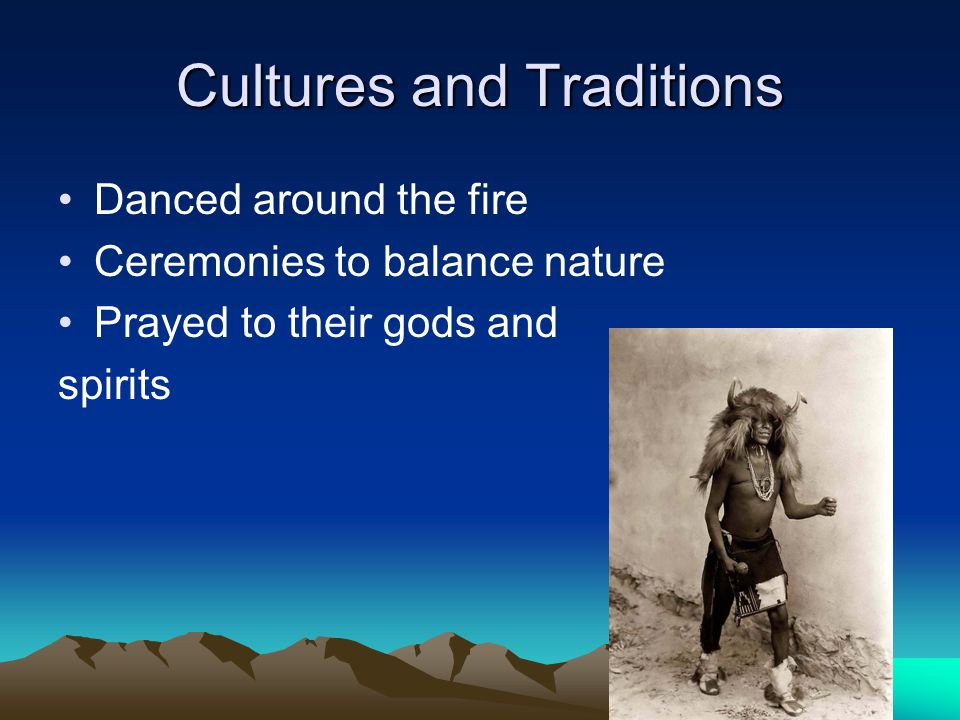Cultures and Traditions