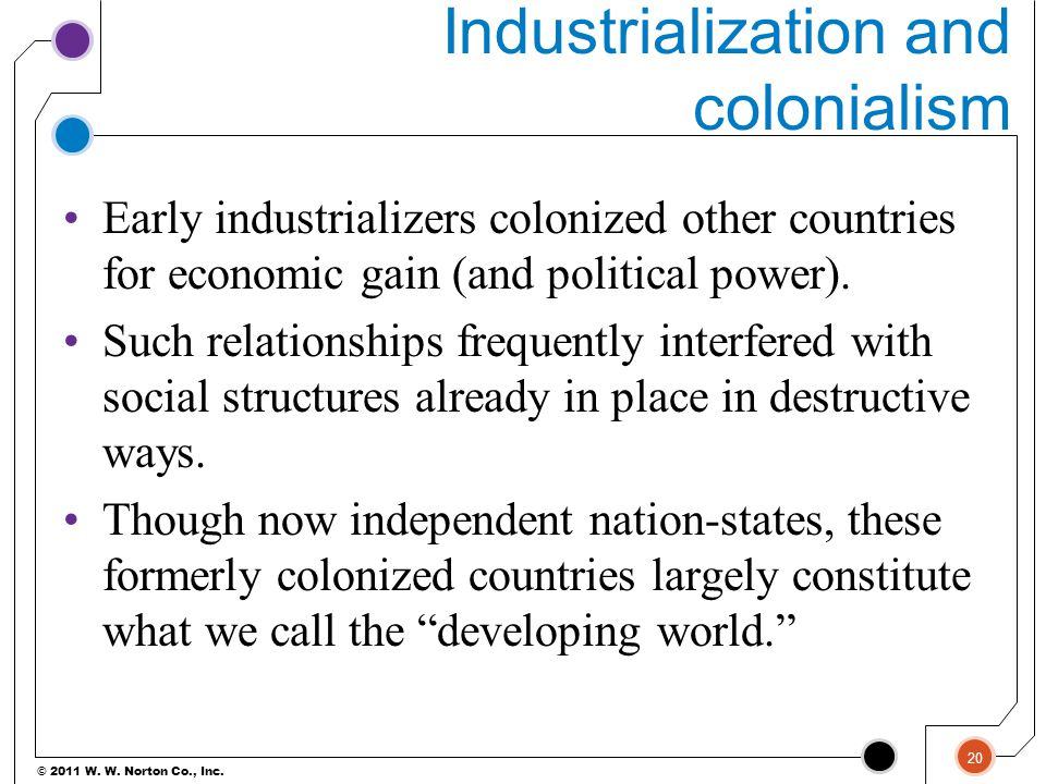Industrialization and colonialism