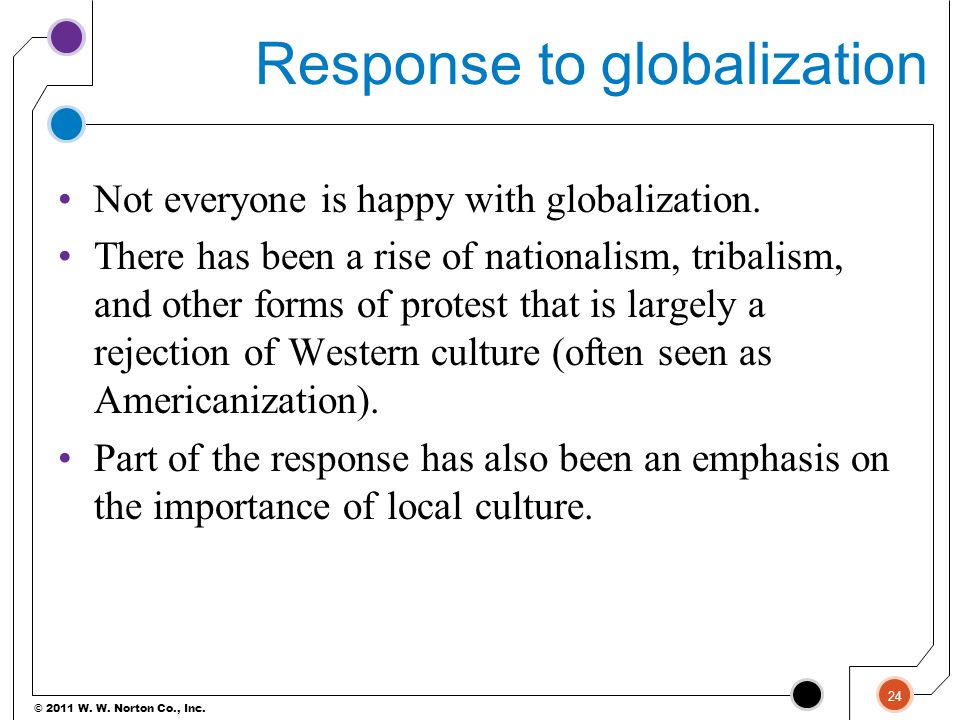 Response to globalization