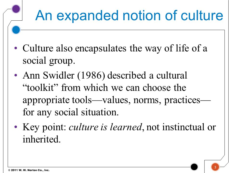 An expanded notion of culture