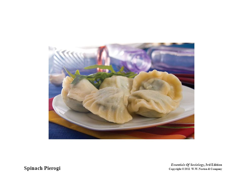 Spinach Pierogi Essentials Of Sociology, 3rd Edition