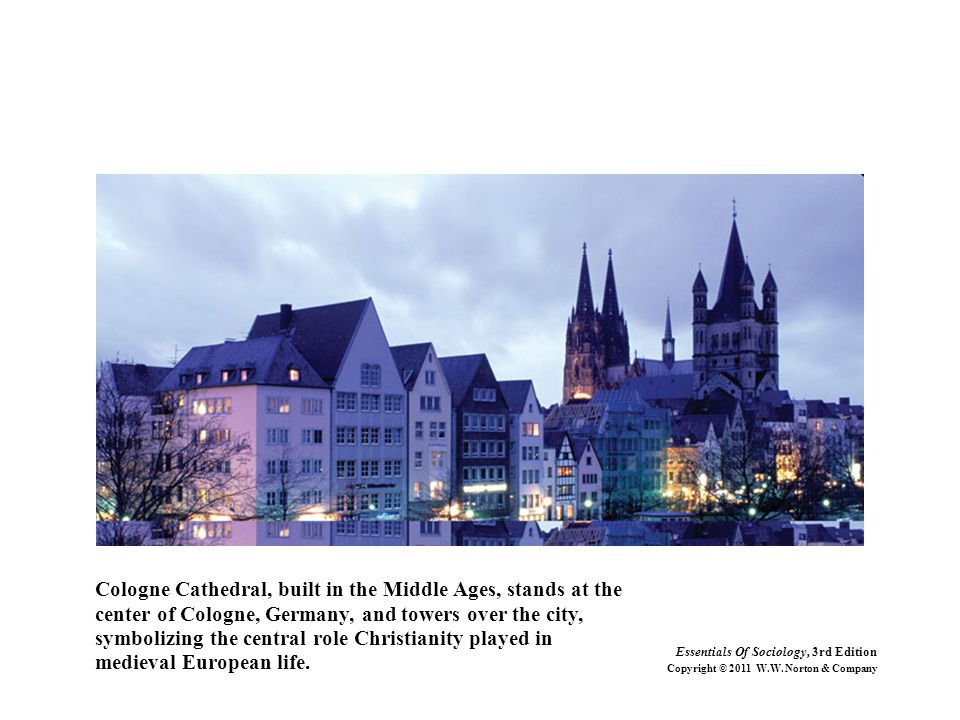 Cologne Cathedral, built in the Middle Ages, stands at the