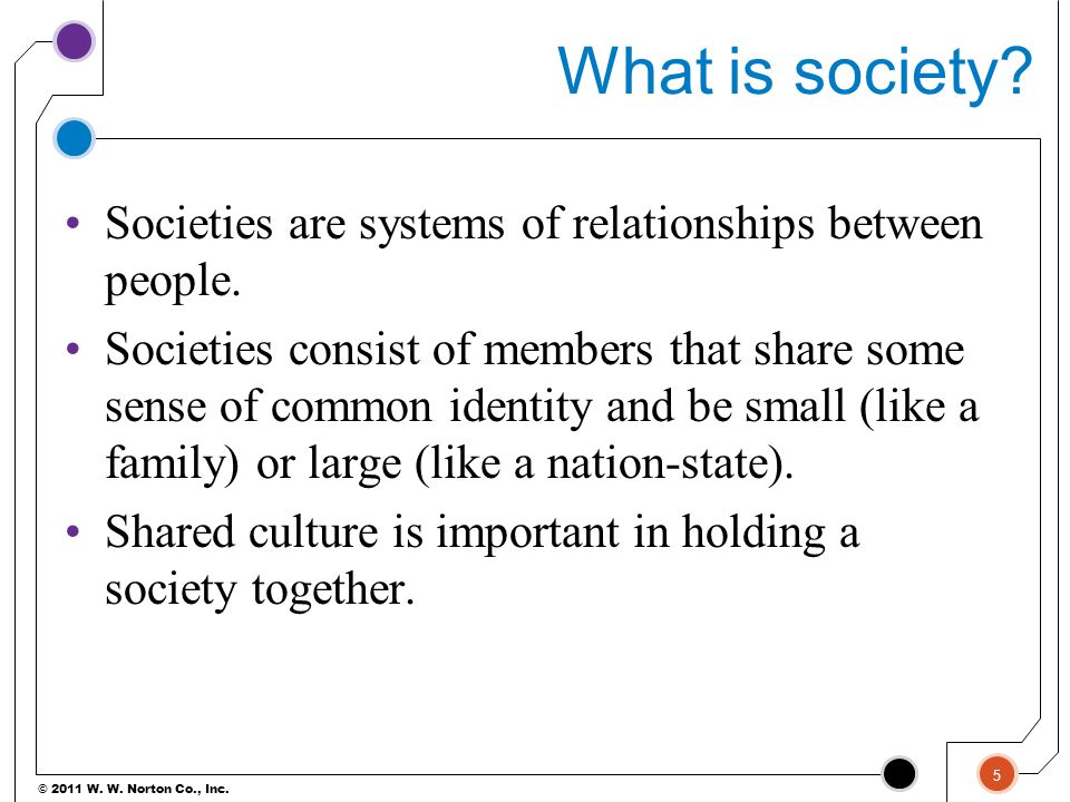 What is society Societies are systems of relationships between people.