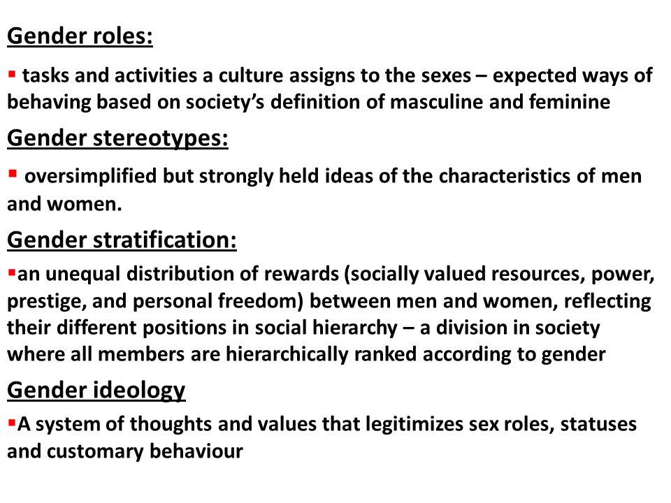 Gender stratification: