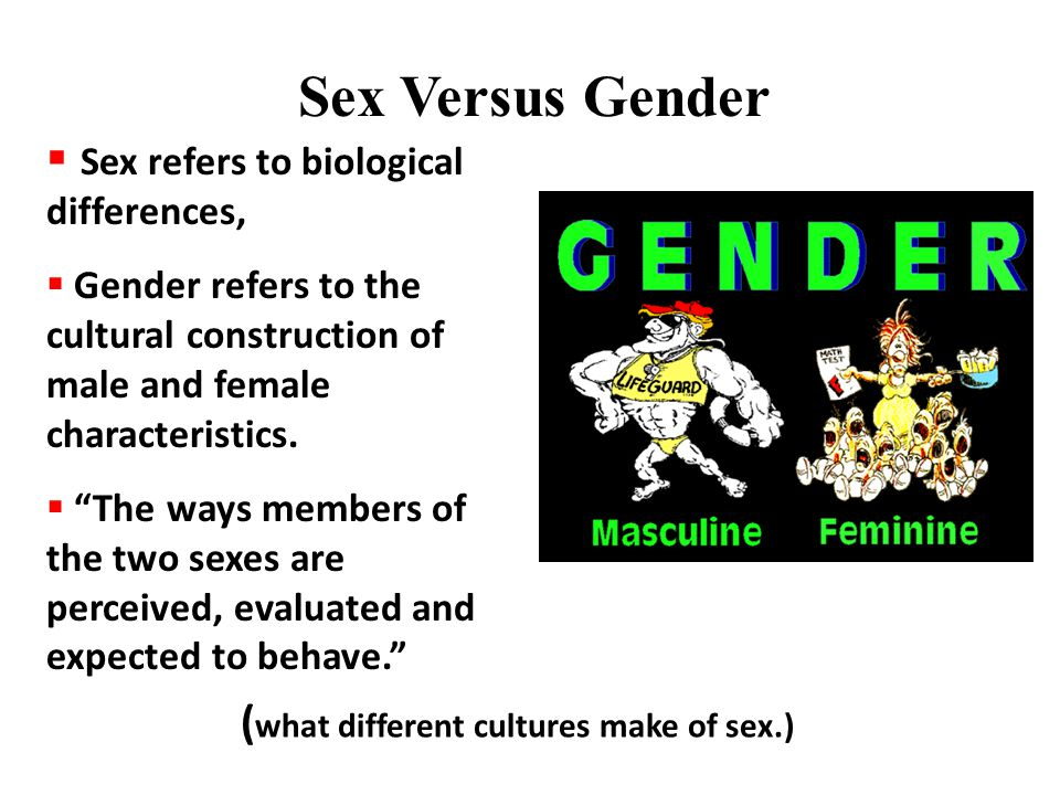 (what different cultures make of sex.)