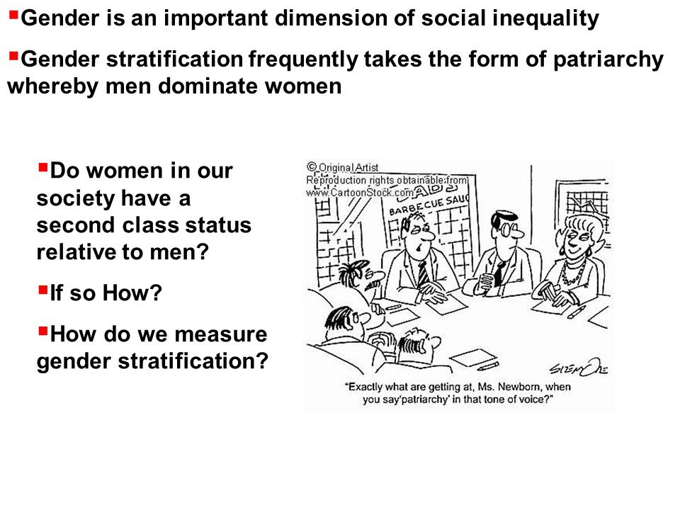 Gender is an important dimension of social inequality