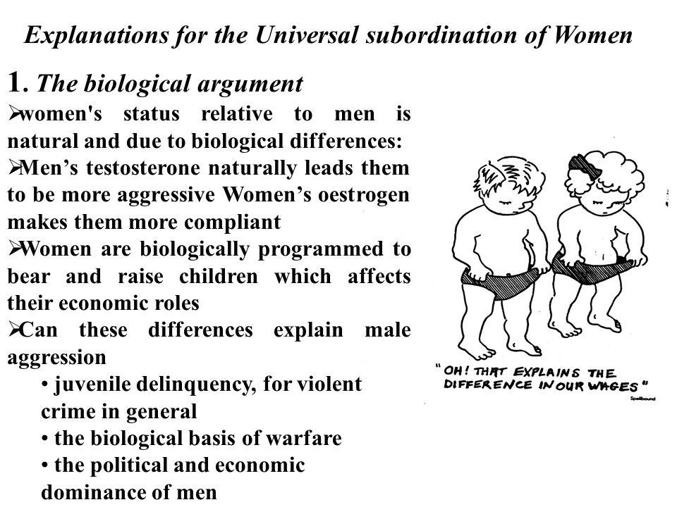 1. The biological argument
