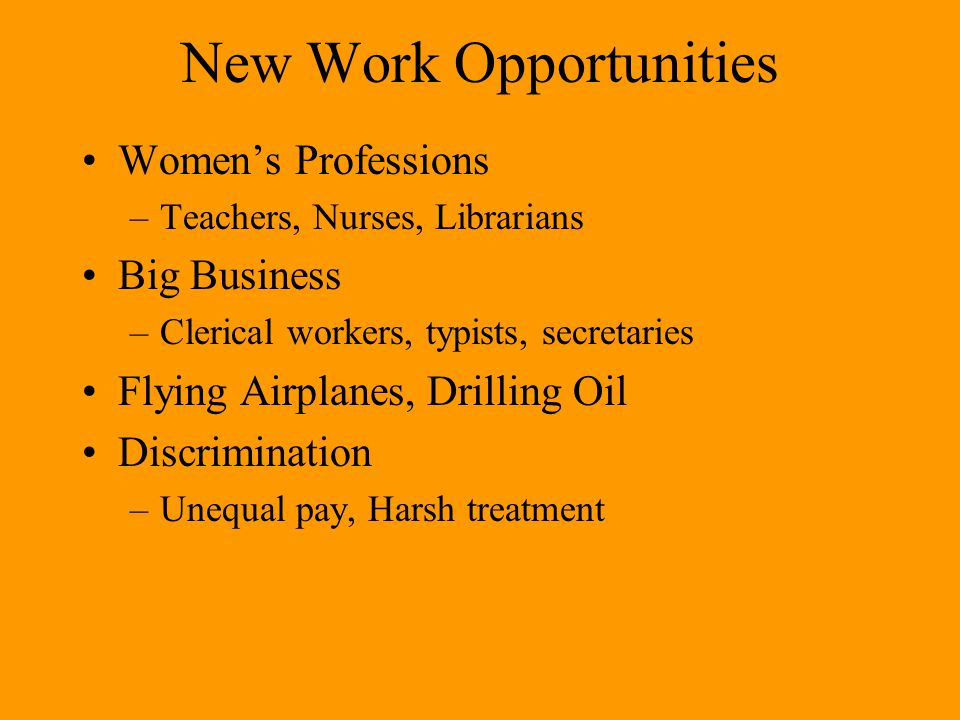 New Work Opportunities