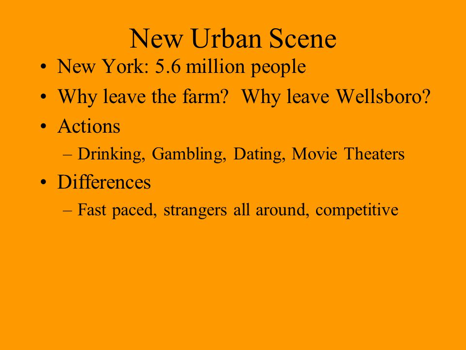 New Urban Scene New York: 5.6 million people