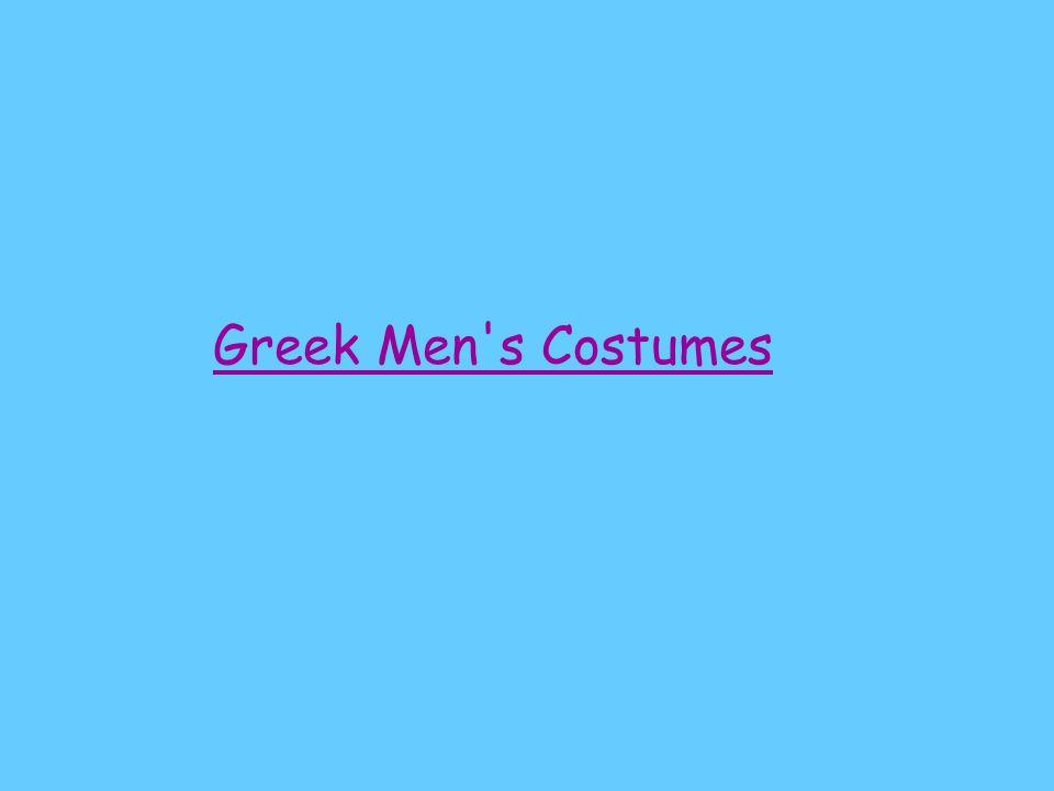 Greek Men s Costumes