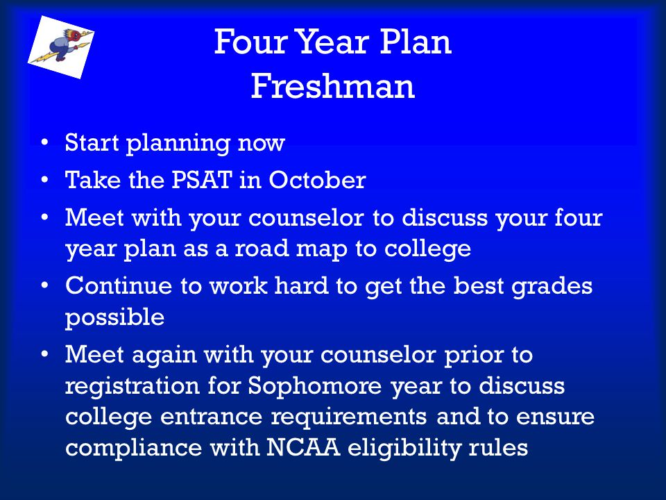 Four Year Plan Freshman