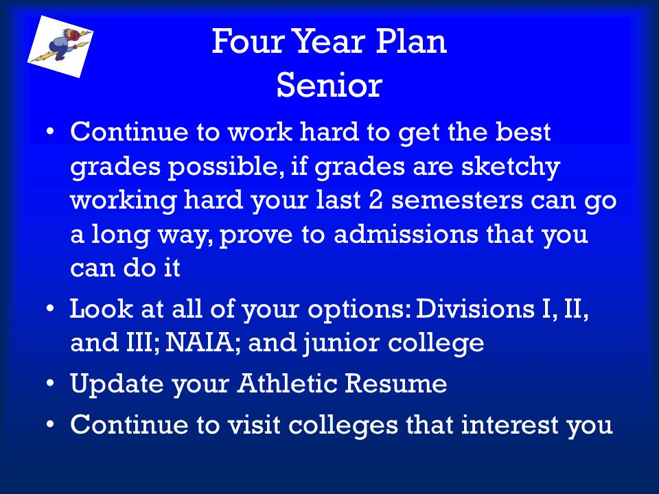 Four Year Plan Senior