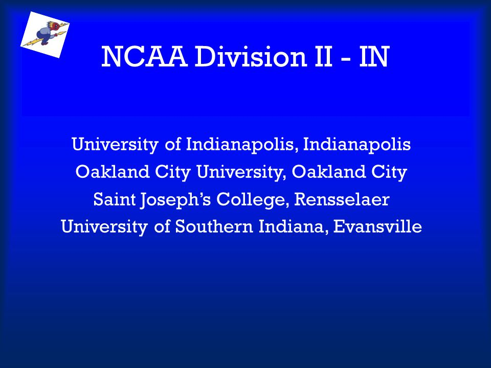 NCAA Division II - IN