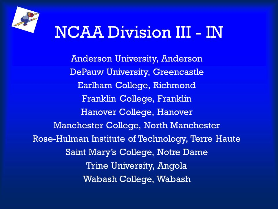 NCAA Division III - IN