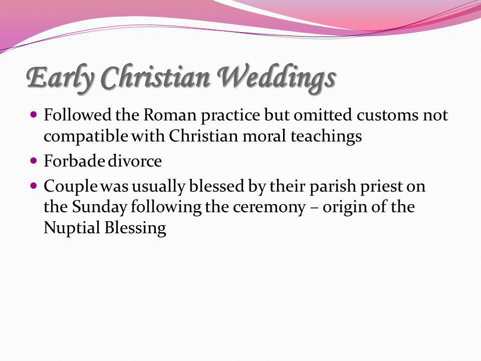 Early Christian Weddings