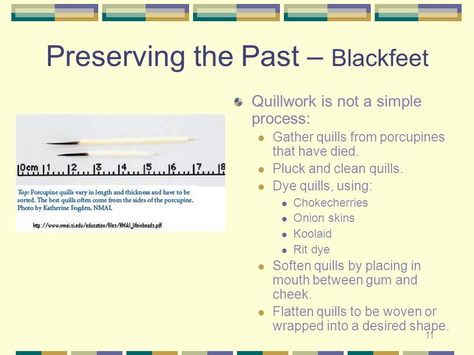 Preserving the Past – Blackfeet