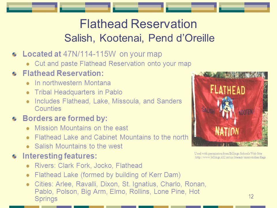 Flathead Reservation Salish, Kootenai, Pend d'Oreille