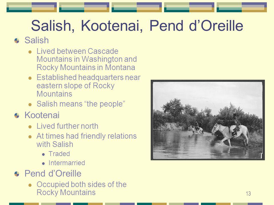 Salish, Kootenai, Pend d'Oreille