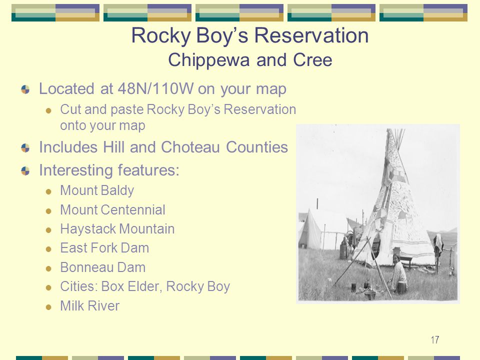 Rocky Boy's Reservation Chippewa and Cree