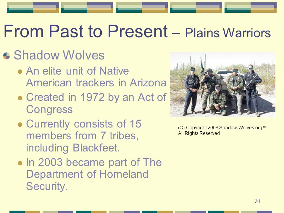 From Past to Present – Plains Warriors