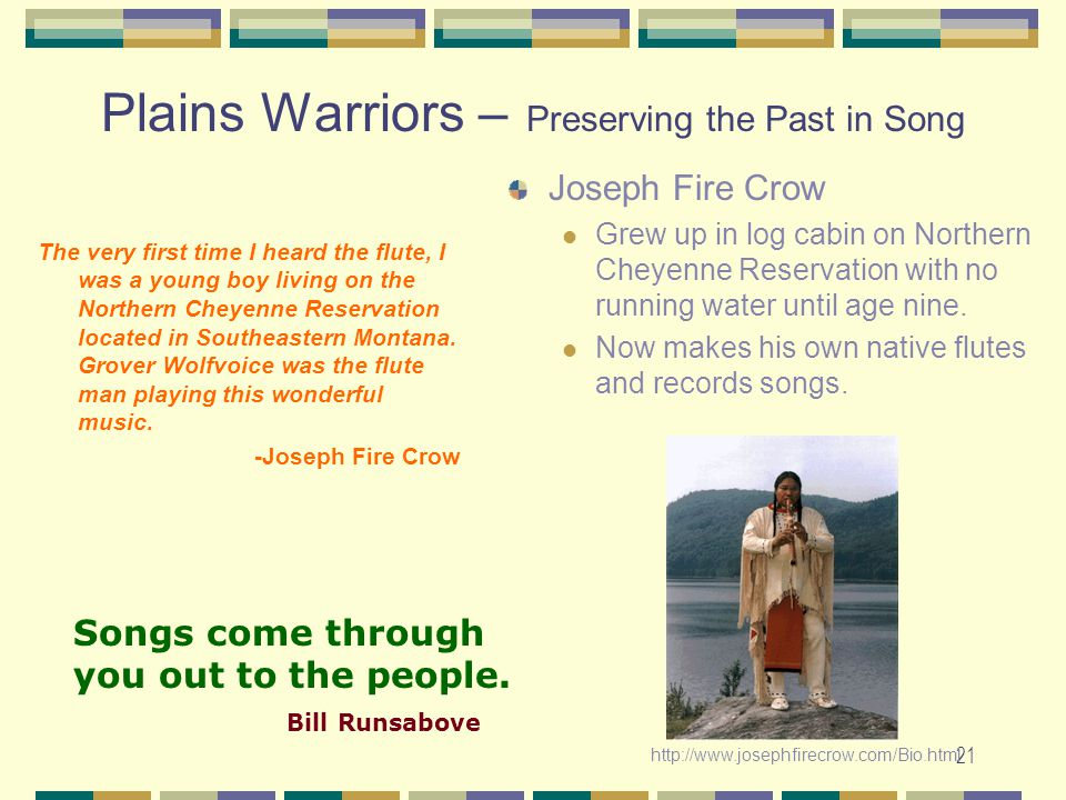 Plains Warriors – Preserving the Past in Song
