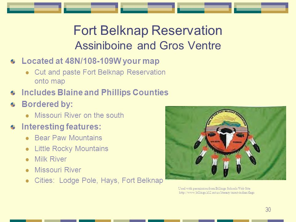 Fort Belknap Reservation Assiniboine and Gros Ventre