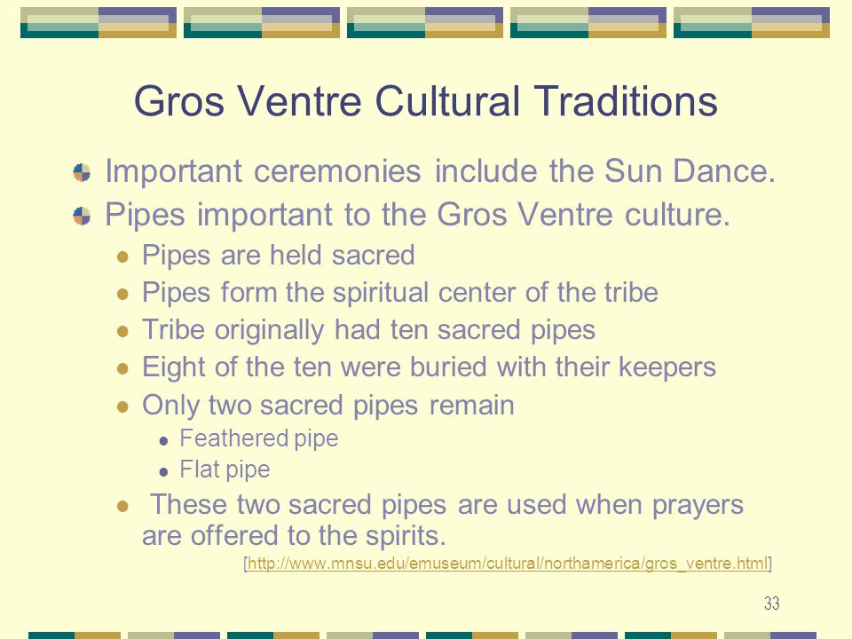 Gros Ventre Cultural Traditions