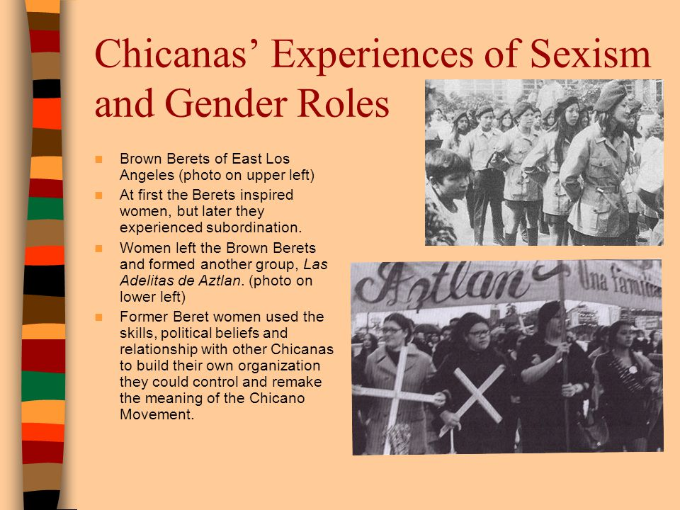Chicanas' Experiences of Sexism and Gender Roles