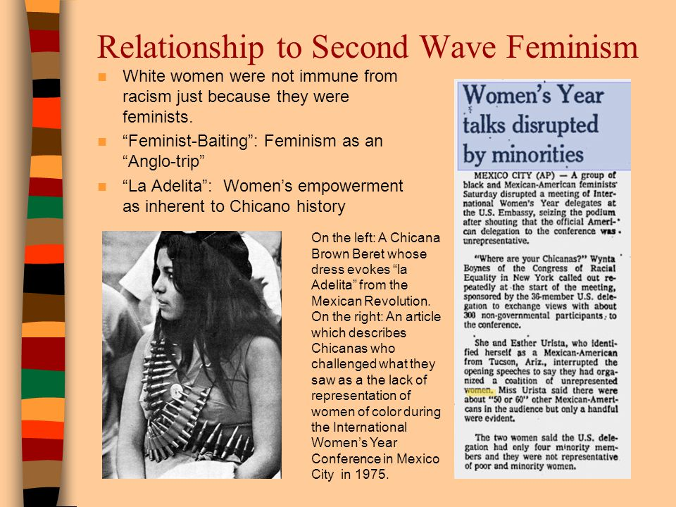 Relationship to Second Wave Feminism