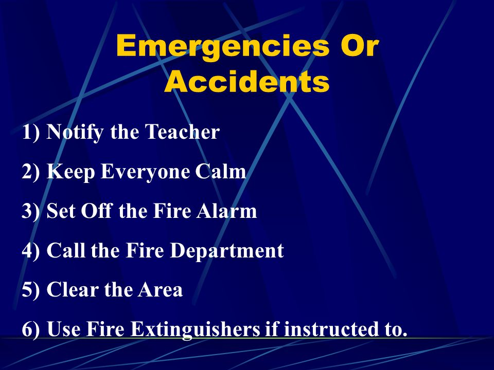 Emergencies Or Accidents