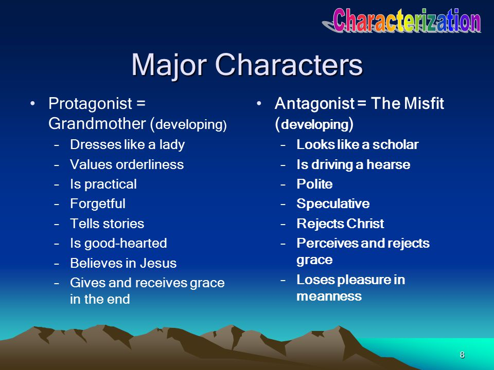 Major Characters Characterization